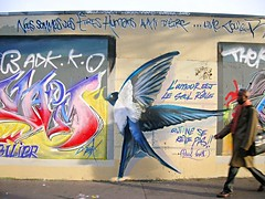 Love 2 (gillesklein) Tags: 2005 street wallpaper urban 15fav favorite streetart paris france art freeassociation wall 1025fav painting french stencil topv555 klein mural faces 2006 frenchpoetry tagged cc creativecommons publicart lovepeace mur 75018 1500 gilles happynewyear francais 2007 75019 parisien visit75018 rateme45 rateme36 ordener flickrstock gillesklein 999v9f coupdecoeur urbanlifeinmetropolis top20graffiti itzkovitch grafswithpeople itzkovitchklein
