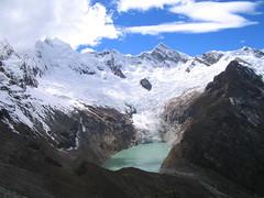 View from Moraine Camp, Alpamayo (Michael Bollino) Tags: morainecamp alpamayo cordillerablanca peru mountains andes mountainlake lake glaciers
