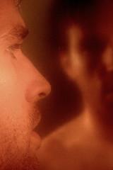 Scruff (.brian) Tags: steam bath mirror reflection self narcissist male scruff face portrait