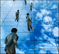 The Amazing Race (HaMeD!caL) Tags: life windows reflection topf25 clouds photoshop dubai lammtara hamedical illusion montage subject runner