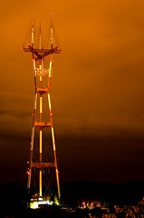 Sutro Tower (Thomas Hawk) Tags: sanfrancisco california city usa tower night phone unitedstates 10 unitedstatesofamerica fav20 twinpeaks sutro antenna sutrotower fav10