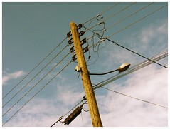 light pole II (gustavohl) Tags: light pole sky cloud clouds eletricity wire