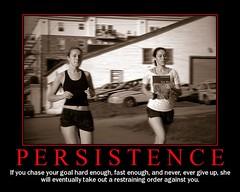 Persistence (Dave Ward Photography) Tags: 2005 girls woman girl poster goal fdsflickrtoys women goals jogging joggers persistence davewardsmaragd