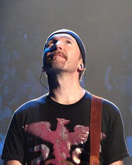 The Edge, 10\22\05, Pittsburgh, PA, Mellon Arena (bonobaltimore) Tags: u2 mbk theedge cf rw mellonarena pittsburghpa vertigotour2005 bonobaltimore october222005 michaelkurman mikekurman