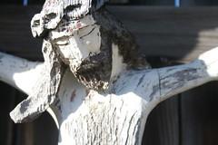 Suffering Jesus (raumoberbayern) Tags: red white black face topv111 beard austria tirol blood findleastinteresting religion jesus topv222 figure alm inri tyrol allerheiligen alpbachtal robbbilder bildstock