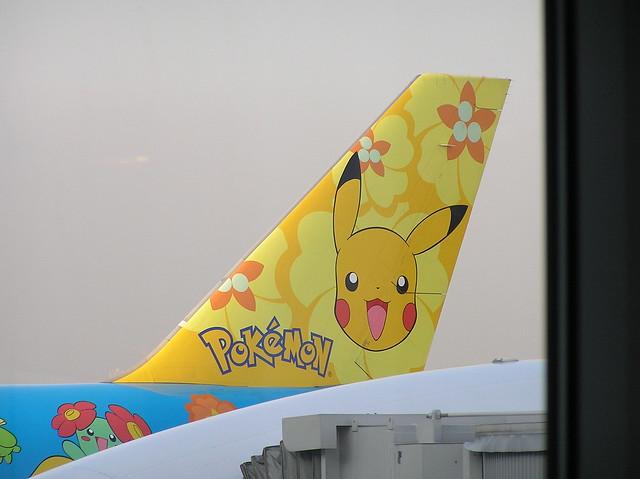 Avión Aerolínea ANA Pokémon Pikachu 12