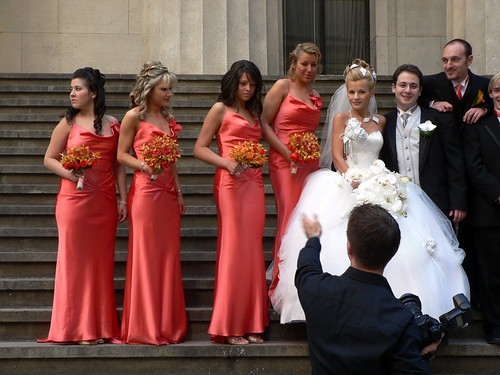Ring In A Spicy Hot Palette Of Colors That Go With Orange: My Wedding Place: Peach Bridesmaid Gowns