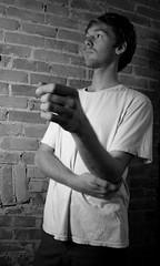 Colin 5 (.brian) Tags: colin handyman man portrait face blackandwhite person brick