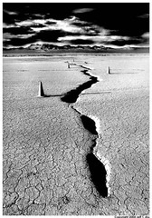 Crease (Jeff T. Alu) Tags: desert black white el mirage dry lake cones pylons surreal moody lonely dark outdoors bleak blackandwhite deserted illusion zen medetation medetate power impact graphic doom bright earthy dirt gritty intense visionary heat passion 4x4 remote california desolate dreamy nightmare euphoric