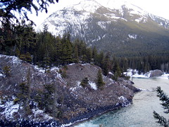 bow river dusted with fresh snow (Veronika Lake) Tags: canada mountains ilovenature alberta bowriver banffnationalpark firstsnowinbanffseenbyme