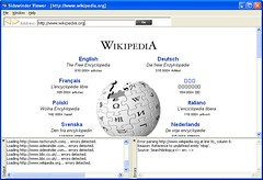 Sidewinder showing Wikipedia