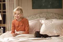 Nicole Kidman y  un gato