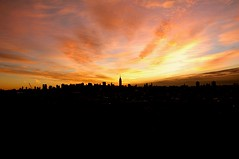 Morning gold over Manhattan (pmarella) Tags: park new city nyc newyorkcity autumn light sky urban usa ny newyork color building fall skyline backlight clouds sunrise wow landscape outside outdoors gold newjersey nikon jerseycity nikond70 outdoor manhattan nj whatever viewlarge pmarella nyskyline metropolis empirestatebuilding empirestate bigsky donttrythisathome hudsoncounty throughmyglasseye riverviewpkproductions