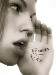 gossip (solecism) Tags: girl writing whisper lies talk secrets gossip utatahands