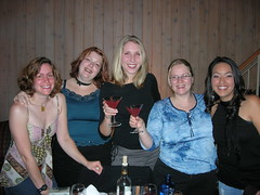 Grils about to get wild (monkeys with tails) Tags: 2005 banff girlweekend