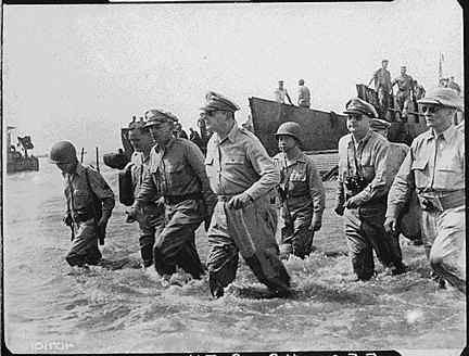 Douglas McArthur Landing on Leyte