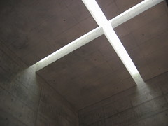 Chappella Di Mare (ellen's attic) Tags: light art church topv111 japan architecture modern concrete topv333 cross chapel ceiling  void  lightandshadow awaji tadaoando ando  cruciform yumebutai   chappellademare