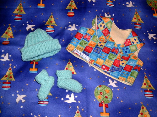 Blue Christmas Sleepy Vest Packet