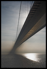 Humber mist (ZekiZeki) Tags: uk bridge sun mist reflection deleteme4 topf25 water fog architecture wow wonderful river landscape loneliness savedbythedeletemegroup suspension quality awesome yorkshire surreal hull humberbridge humber saveme11 interestingness21 i500