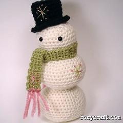 snowman 1 (Roxycraft) Tags: amigurumi softies plush mos crochet handmade