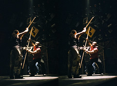 Combat 3d 1.jpg (SteveMcN) Tags: stomp orpheum nyc performance 3d sterography crosseye