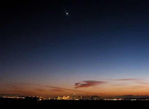 Planet Venus, Evening Star over San Francisco Bay
