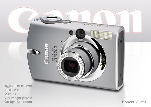 Canon camera Photoshop rendering