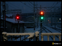 Red Yellow Green (DigiPub) Tags: snow    signal   railway