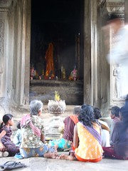Prayer time at Angkor Wat