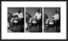 Fulfillment (ilmungo) Tags: bw music playing happy drums play jazz drummer tryptich coolcat fulfilled brianblade billychildsjazzchamberensemble