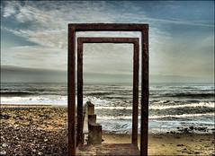 . Beach Style . (3amfromkyoto) Tags: uk sea england sky beach clouds wow sand rust iron waves norfolk shingle rusty style wave 2006 foam february groyne stile cromer 3amfromkyoto flickr:user=3amfromkyoto
