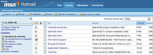 Version beta de Hotmail