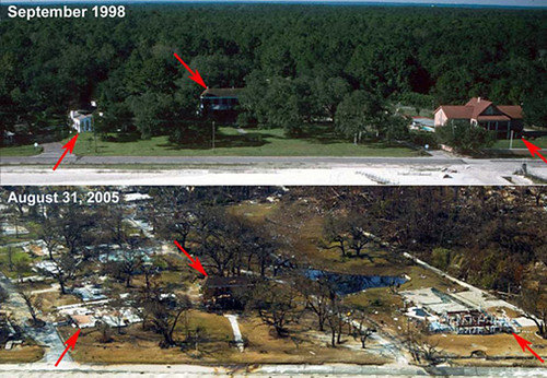 Waveland, Mississippi Before & After Katrina