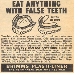 EAT ANYTHING WITH FALSE TEETH (dogwelder) Tags: magazine teeth september advertisement zurbulon6 1959 falseteeth zurbulon gatturphy mechanixillustrated referencepic