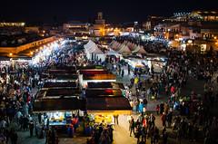 Jemaa el-Fnaa (fede_gen88) Tags: africa people food night square lights evening market eating muslim islam crowd morocco marrakech medina marrakesh selling stalls crowded jemaa elfna jamaa elfnaa