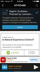 Dr. Sweet's Napkin Scribbles Stitcher app podcast screenshot on iPhone 6 (George Fox Evangelical Seminary) Tags: podcast screenshot gfu app stitcher georgefoxuniversity gfes georgefoxevangelicalseminary napkinscribbles