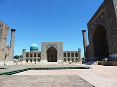 Registan Square and Its Three Madrasahs, Samarkand, June 2015 (leonyaakov) Tags: summer museum ceramic minaret muslim religion ceremony mosque unesco promenade uzbekistan samarkand citycenter sunnyday citytour ouzbekistan greatphotographers    nikonflickraward