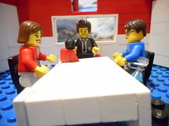 Part 1 The Meeting (The Brickbaron) Tags: office lego chief agent