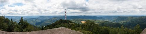 Panorama depuis le Donon (Altitude : 964 m)