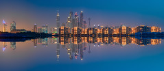 Dubai - Marina Skyline Panorama (030mm-photography) Tags: travel panorama tower beach skyline architecture strand skyscraper marina bay dubai cityscape nightshot urlaub uae architektur bluehour unitedarabemirates reise nachtaufnahme hochhaus künstlich bucht wolkenkratzer vae blauestunde vereinigtearabischeemirate princessmarina cayan dubaiskydive