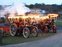Bringing Light into the Night! (Terry Pinnegar Photography) Tags: tractor museum lights dusk traction engine steam beamish garrett countydurham 3313 burrell showmans 33486 yorkshireman ad8787 queenofgreatbritain ah6813