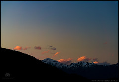 Nubes crepusculares en Bariloche
