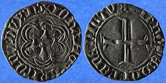 Blanc à l'hexlobe du duc Jean V de Bretagne (Enez35) Tags: monnaie coin blanc blancàlhexalobe bretagne ducdebretagne jeanv nantes hermines