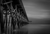 Long and Dark (tshabazzphotography) Tags: longexposurephotography water pier clouds refection angles wood blackandwhite bw myrtlebeach southcarolina ocean beachlandscape beachphotography longexposurejunkie darklong dark canonoffical canonphotography ngc