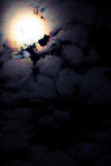 349 - Rainbow moon (zonderlingen) Tags: 3662016 366project moon moonlight evening sky night rainbow clouds