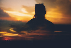 It's over (Louis Dazy) Tags: 35mm analo analog film double exposure sunset sunrise mood orange clouds silhouette
