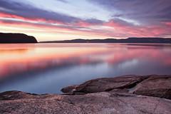 Lever  de soleil sur la Baie Des Ha! Ha! du 23-08-2015 (gaudreaultnormand) Tags: canada fjord labaie leefilter leverdesoleil longexposure longueexposition pastel reflet river rivière saguenay sunrise