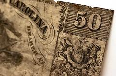 Corner (ertolima) Tags: macromondays corner civilwar money 50cent old antique vintage hmm