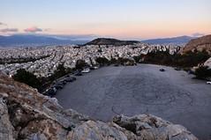 (Dems.) Tags: athens athina atene parcheggio cerchi solitudine solitude moment riflessione disegno city città metropoli luci rosso lights cemento life