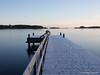 Laituri (TaleOfJoy) Tags: yellow ramsinranta vuosaari helsinki finland meri sea winter frost kuura